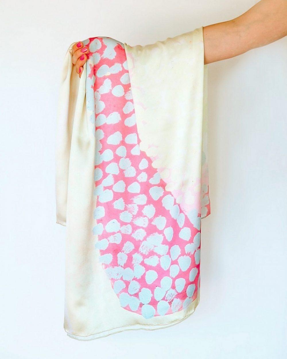 aboriginal print silk scarves from australia
