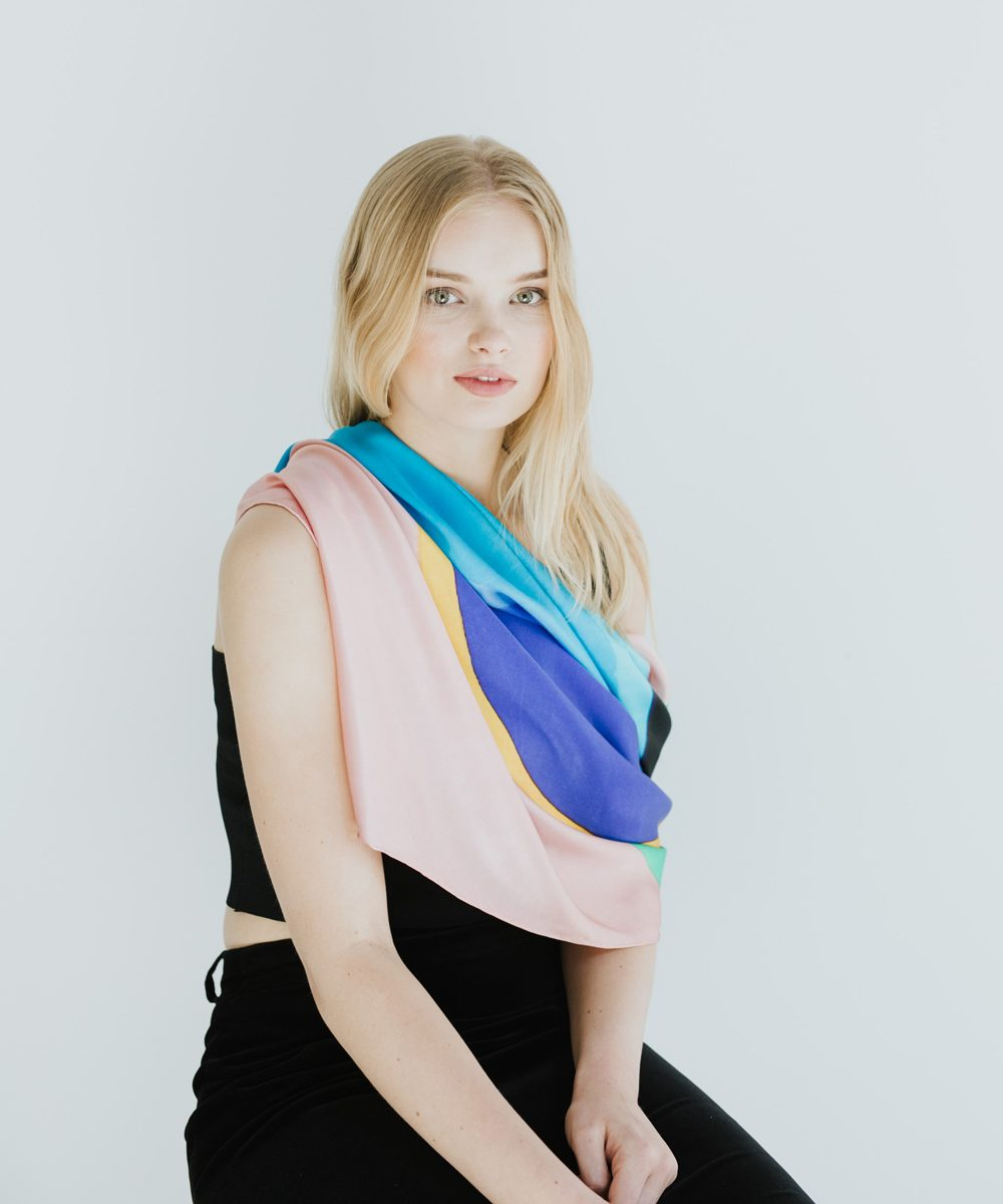 Aboriginal Print Silk Scarves - Orbit 5 Scarf by Ham Darroch