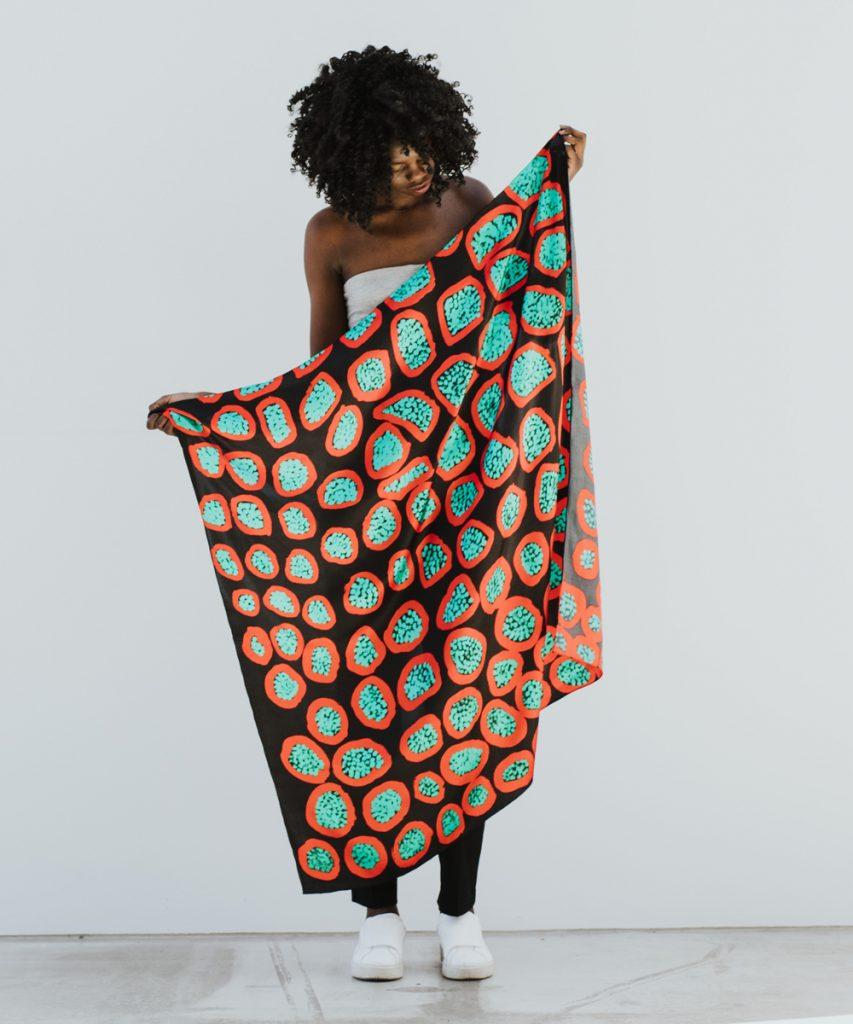 Australian made silk scarves Kampagee scarf by Margaret Baragura