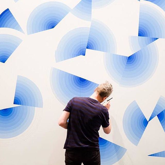 Measure Wall painting Sydney Contemporary Art Fair Carriageworks 2015