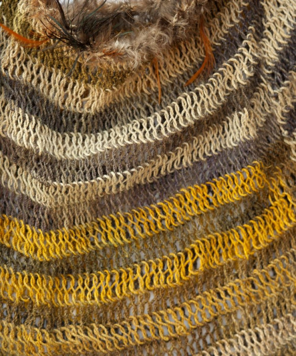 Bilums from Papua New Guinea - Bilum Natural Fibre + Feathers