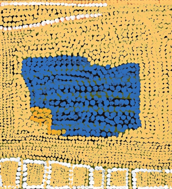 Untitled Mary Meribida Acrylic on canvas 2004